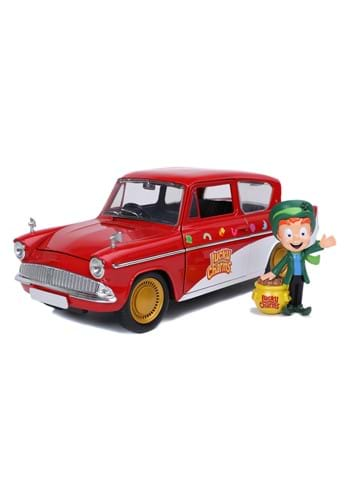 1 24 Scale Lucky Charms 59 Ford Anglia w Leprechaun Figure
