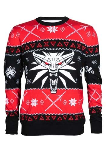 The Witcher 3 White Wolf Ugly Holiday Sweater