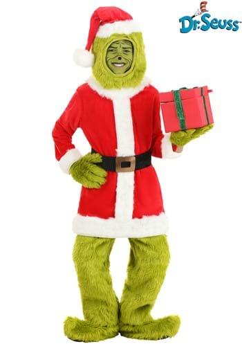 The Grinch Child Santa Open Face Costume