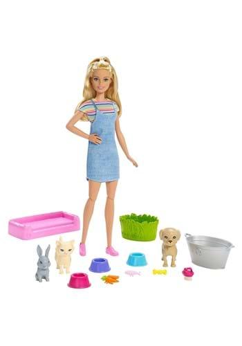 Barbie Play N Wash Pets Doll Playset