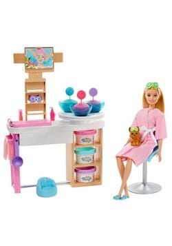 Barbie Face Mask Spa Day Blonde Doll and Playset