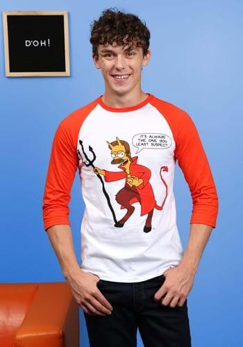 Ned Flanders Devil Raglan Unisex T-Shirt