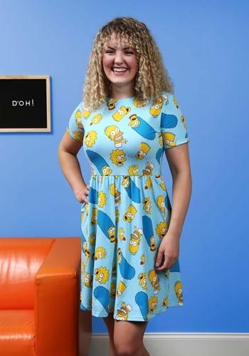 Cakeworthy Simpsons Family Toss Ladies Print Dress
