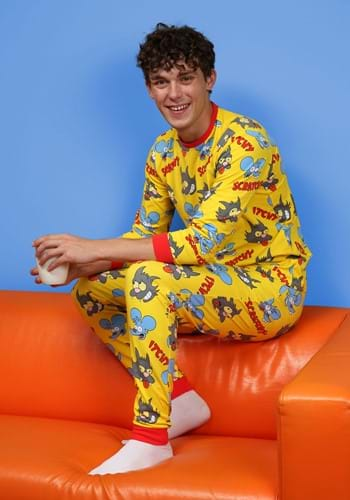 Cakeworthy Itchy and Scratchy Unisex PJ Set