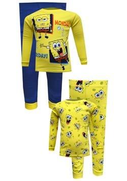 4 Pc Boys Spongebob Monday-Friday Sleep Set
