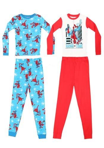 4 Pc Boys Spiderman Hang Time Sleep Set