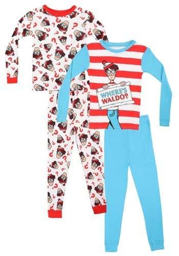 4 Pc Boys Where's Waldo Sleep Set
