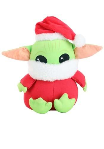 The Mandalorian The Child Santa Squeaker Dog Toy