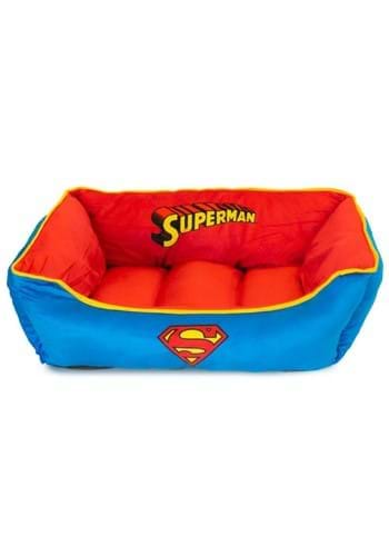 SUPERMAN RED AND BLUE PET BED