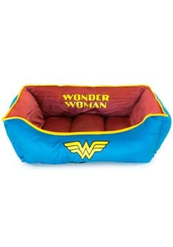 WONDER WOMAN DARK RED AND BLUE PET BED