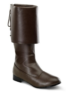 Brown Buccaneer Adult Boots