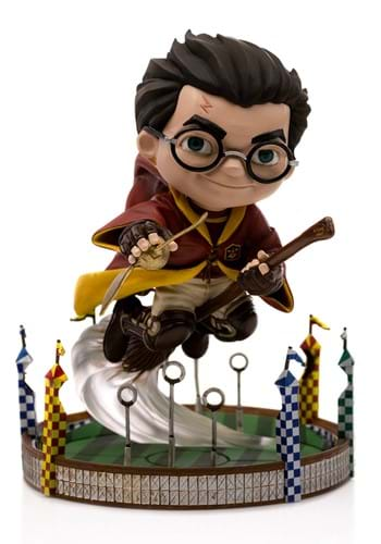 Harry Potter at the Quidditch Match MiniCo Statue