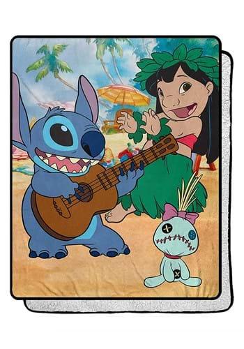 """Lilo & Stitch Tropical Mix 40""""x50"""" Sherpa Blanket"""