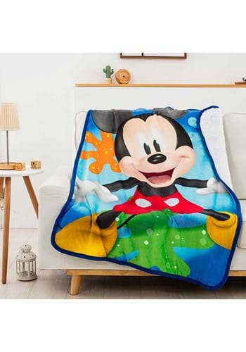 Mickey Mouse Splat Attack 40x50 in Sherpa Throw
