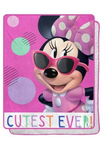Minnie Mouse Cutie Patootie Sherpa Blanket