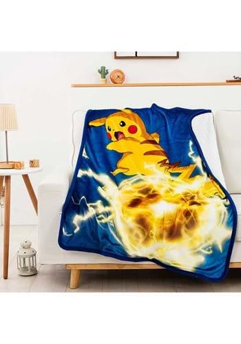 Pokemon Electro Shock 40 x 50 Sherpa Blanket