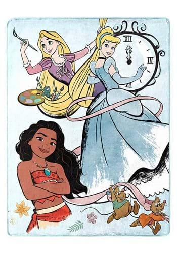 """Disney Princess Powder Blue 46""""x60"""" Silk Touch Thr"""