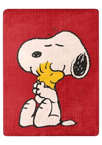 """Peanuts Snoopy and Stock 46""""x60"""" Silk Touch Throw"""
