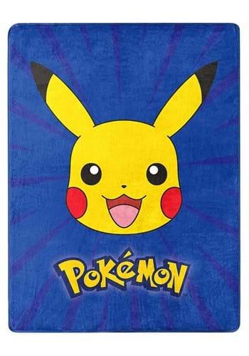 """Pokemon Burst Pika 46""""x60"""" Silk Touch Throw"""