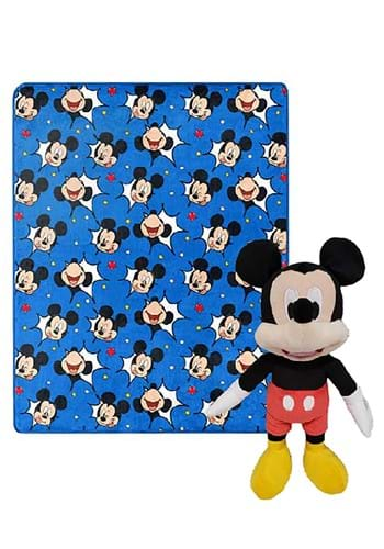 Mickey Mouse Comic Pop Throw Blanket and Pillow
