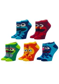 Sesame Street Chibi Character 5 Pair Pack Ankle Socks