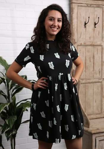 MICKEY GHOST BUTTON UP DRESS-1