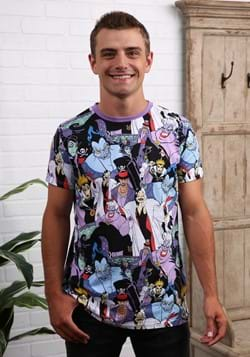 Disney Villains All Over Print Adult T-Shirt-1