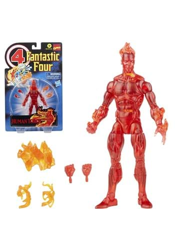 Fantastic Four Retro Marvel Legends Human Torch