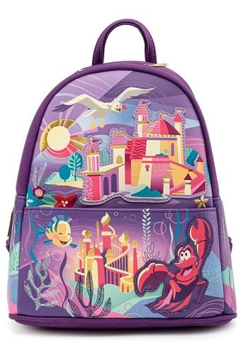Loungefly Disney Ariel Castle Collection Mini Back