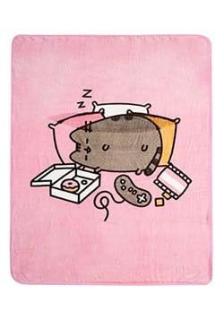 Pusheen Pink Weekend Throw Blanket