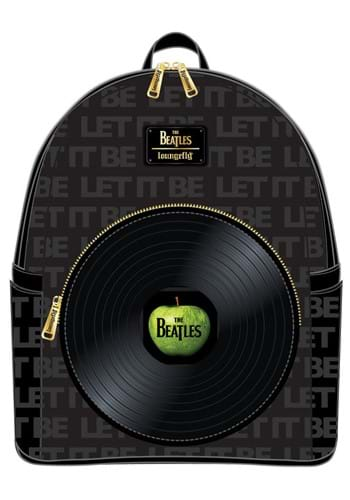 Loungefly The Beatles Let It Be Vinyl Record Mini Backpack