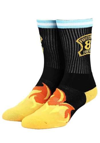 Fire Force Flaming Crew Socks