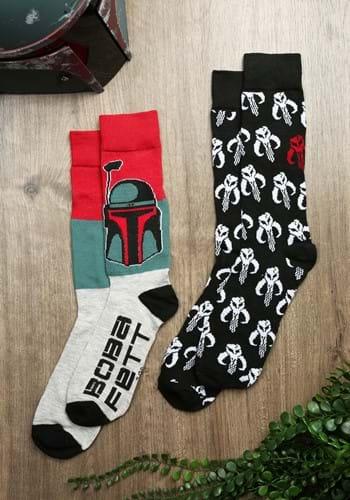 Mens 2 Pack Boba Fett Mythosaur Socks-0