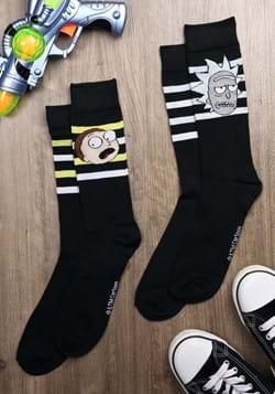 Mens 2 Pack Black Rick and Morty Socks