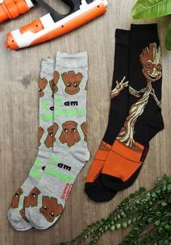 Mens 2 Pack I Am Groot Socks-0