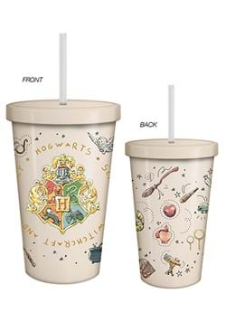 HP Vintage Crest 20 Oz Cup w/ Lid and Straw