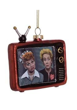 I Love Lucy TV Lucy and Ethel 3 1/2-Inch Glass Orn