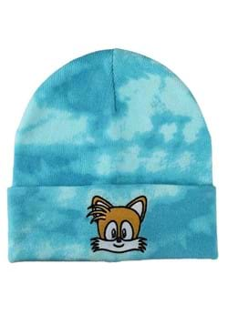 SONIC TAILS EMBROIDERED TIE DYE KNIT BEANIE