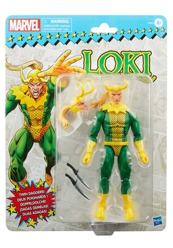 "Marvel Legends Retro Loki 6"" Action Figure"