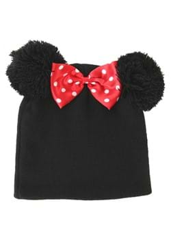 Minnie Mouse Pom Ears Beanie with 3D Bow for Adults