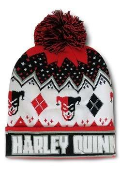 Harley Quinn Intarsia Knit Cuff Beanie