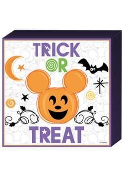 Disney Halloween Mickey Pumpkin Trick or Treat Wood Box Sign