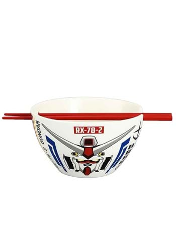 Mobile Suit Gundam Ceramic Bowl with Chopsticks
