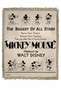 CL MICKEY-BIGGEST OF ALL STARS JACQUARD THROW