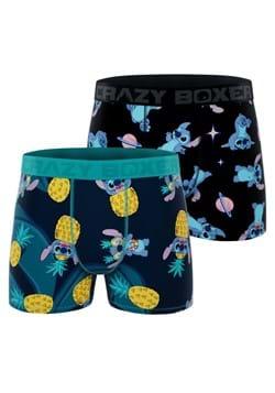 Men's Lilo & Stitch 2 Pack Stitch & Pineapple Boxer Briefs u