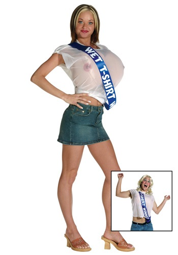 Womens Wet T-Shirt Winner Costume