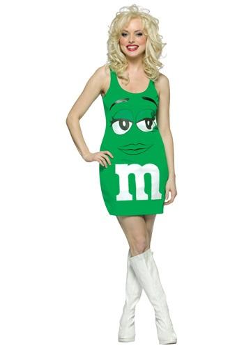 Women's Yummy Green M&M Costume