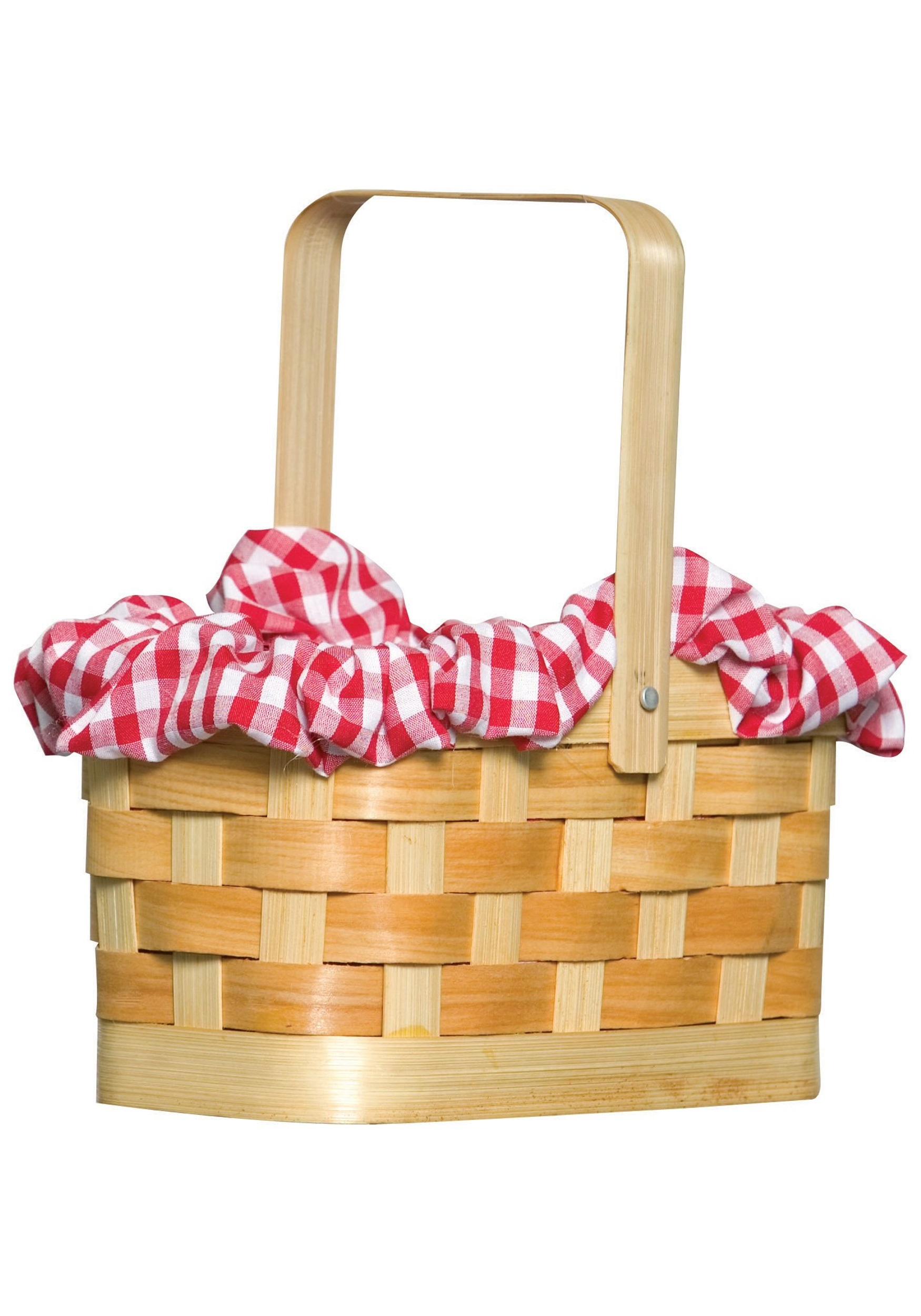 Fun Costumes Red Gingham Hand Basket Standard