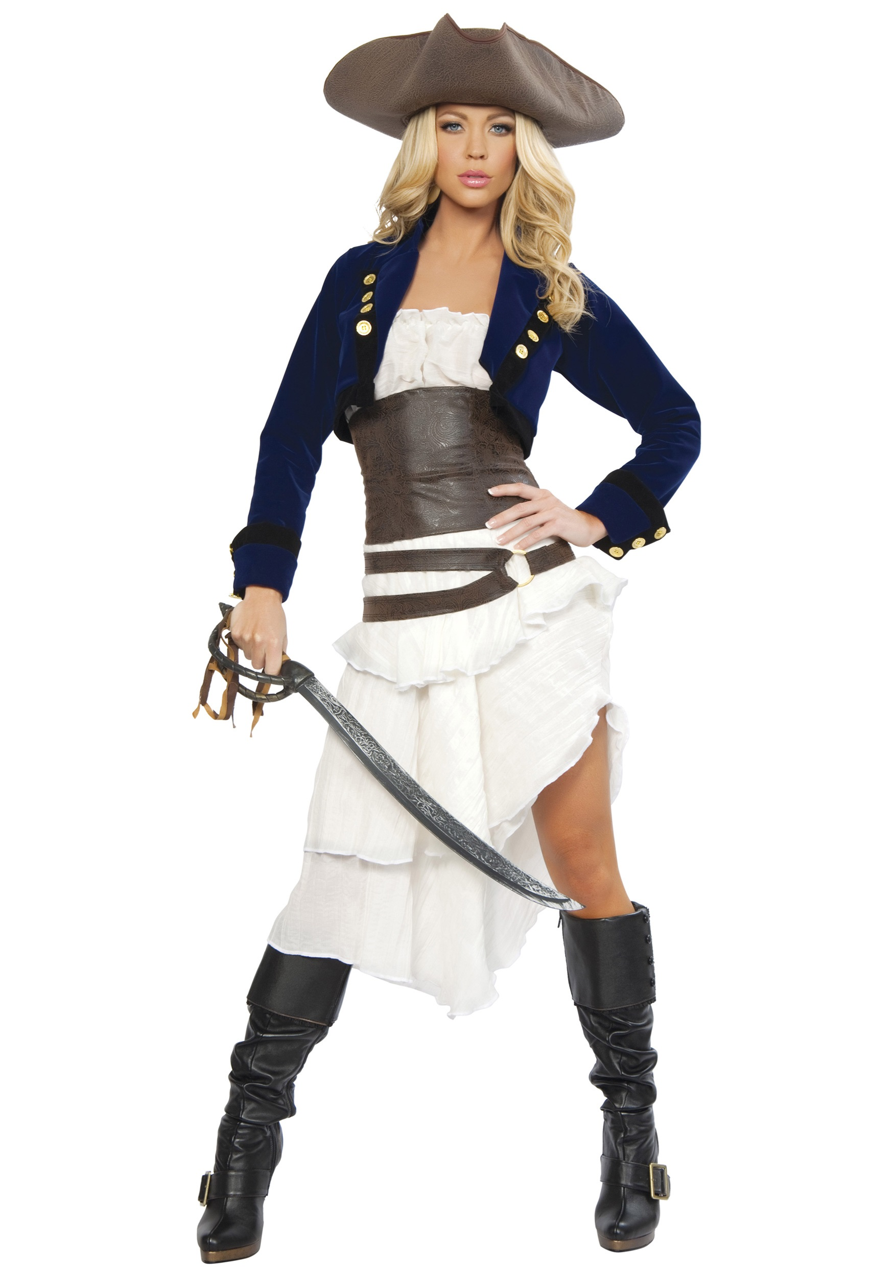 Womenu0027s Deluxe Colonial Pirate Costume  sc 1 st  Fun.com & Womenu0027s Colonial Pirate Costume