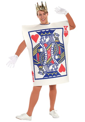Mens King of Hearts Card Costume